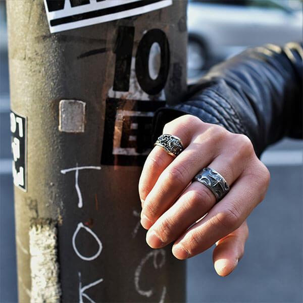 フレアモチーフサンシンボル シルバー925リング/指輪