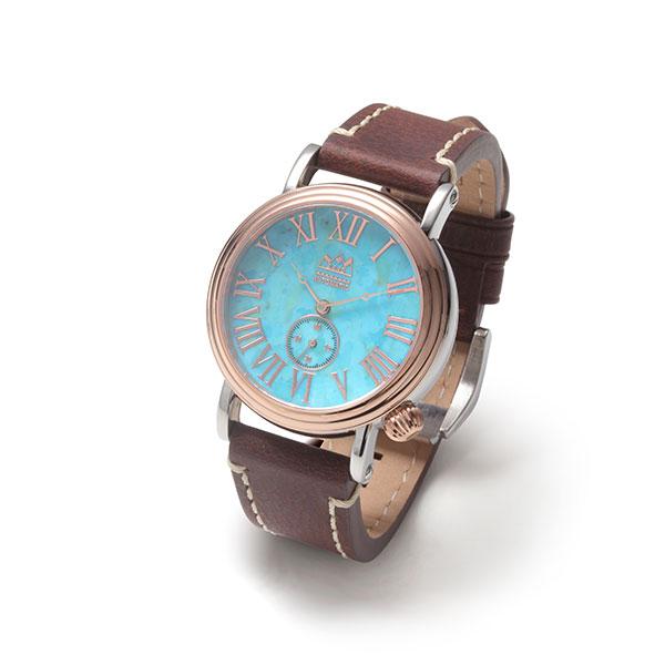ターコイズ オートマチック自動巻き腕時計