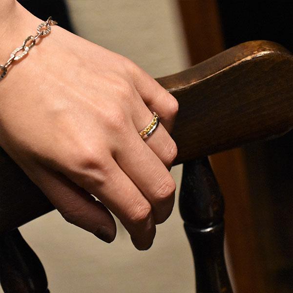アラベスク シルバー925 K24(24金)ゴールドプレートリング/指輪