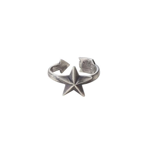 スターモチーフ シルバー925リング/指輪 R-100-S