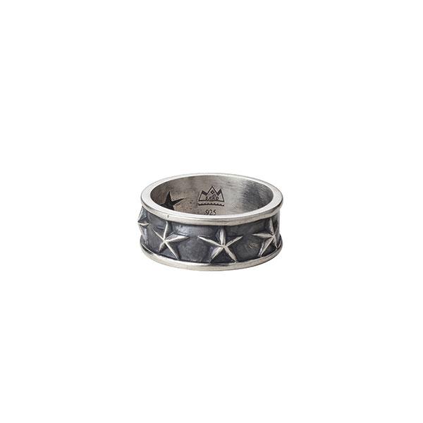 スターモチーフ シルバー925リング/指輪 R-102-S