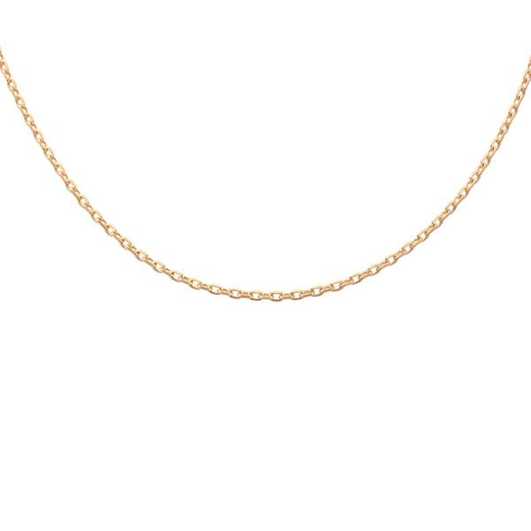 あずき シルバー925製 K24(24金)ゴールドプレートチェーン(38cm) IC23-38-GPL