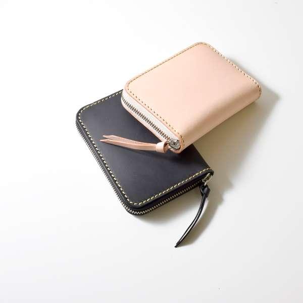 ミドルウォレット/革財布 ブラック サドルレザー WL-157-BK