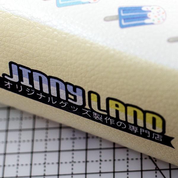 マチ付き合皮ポーチ ・ タグ印刷可能