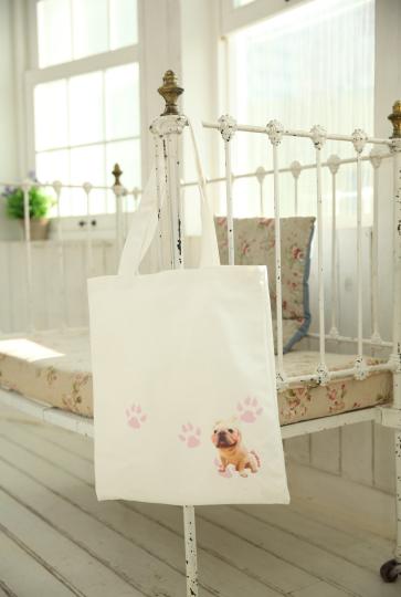 布トートバッグ(エコバック)-片面印刷、マチ付きも可能