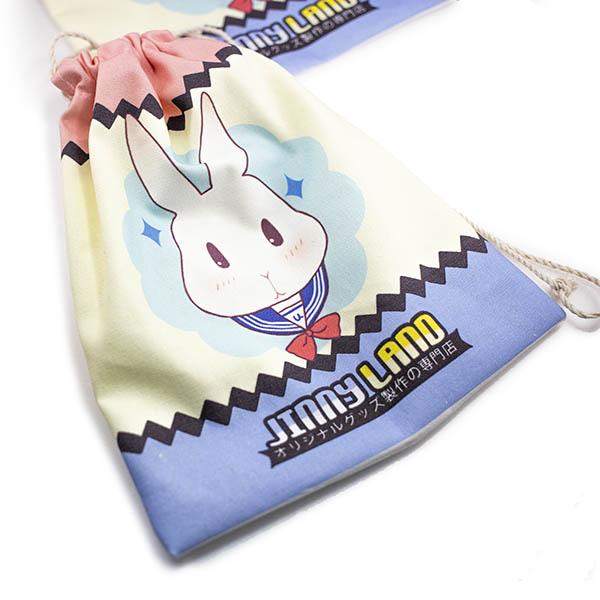 フルカラー印刷巾着袋・巾着ポーチ 片面印刷
