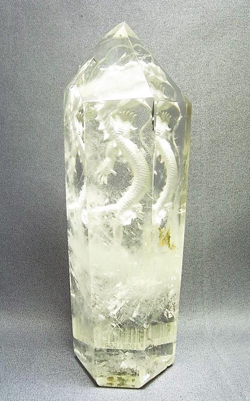 CBM0006 龍彫り 水晶ポイント