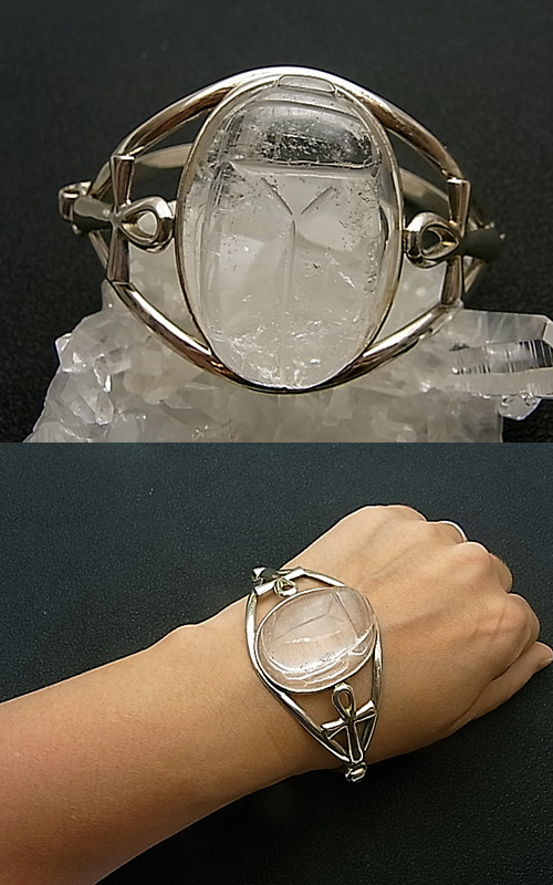 B00459F  スカラベ水晶バングル Lei