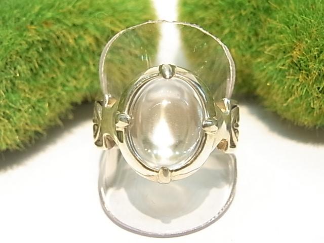 RK0004F レムリア水晶  シルバーリング 【GEO DESIGN】