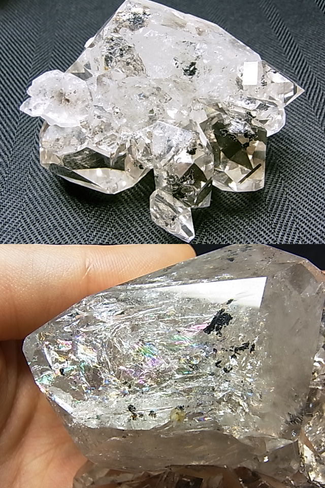 MM0047 ハーキマーダイヤモンド クラスター