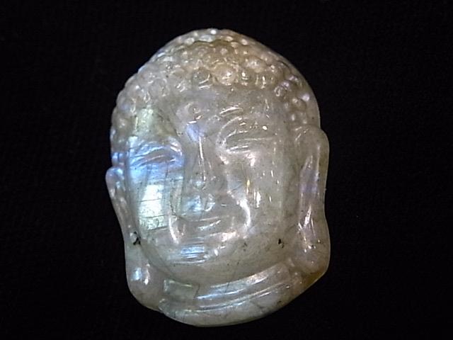 CA00018K ラブラドライト彫り(仏陀)