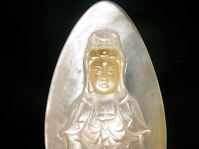 CA00023K マザーオブパール 彫り(観音様)