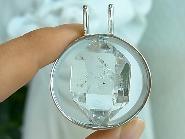 PK00113F  ハーキマーダイヤモンド シルバーペンダントヘッド【GEO DESIGN】
