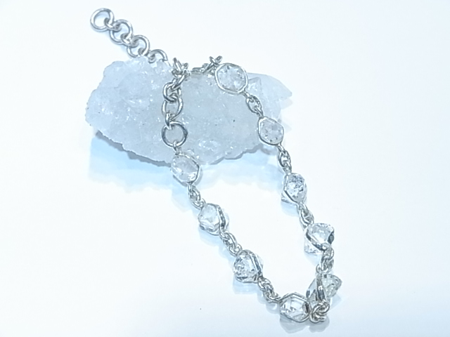 BA00013K ハーキマーダイヤモンド ブレスレット