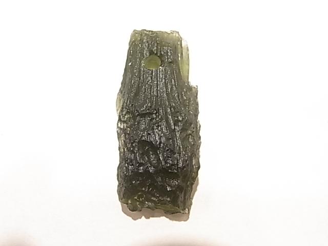 PA00065K モルダバイト(原石)穴あきペンダントトップ チェコ産