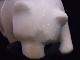 CKM0007F 白クマさん大理石 置物 大