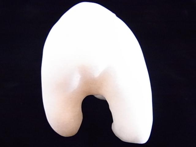 CKM0008F 白クマさん大理石 置物 中