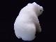 CKM0009F 白クマさん大理石 置物 小