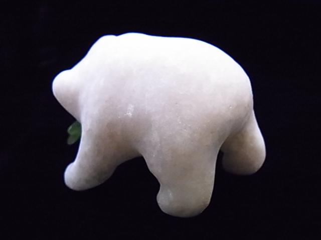 CKM0010F 白クマさん大理石 親子3匹セット 置物