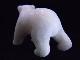 CKM0011F 白クマさん大理石 置物 親子3匹セット 置物