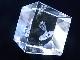 CA00012K 水晶 レーザー彫り(蛇) キューブ