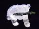 CKM0012F 白クマさん水晶 置物