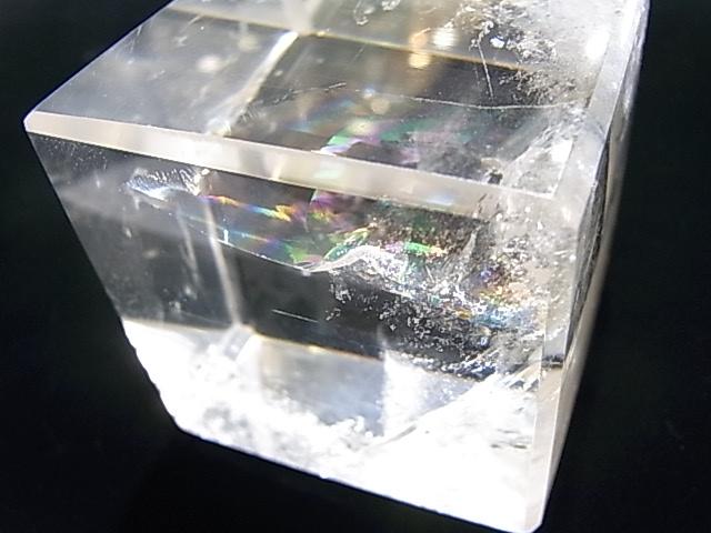 CA00013K 水晶(レインボー入り) キューブ