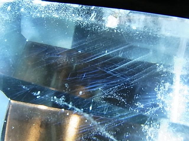 POK0002F ☆エンジェルラダー☆【高品質】 レムリア水晶ポイント 内包物入り【GEO DESIGN】