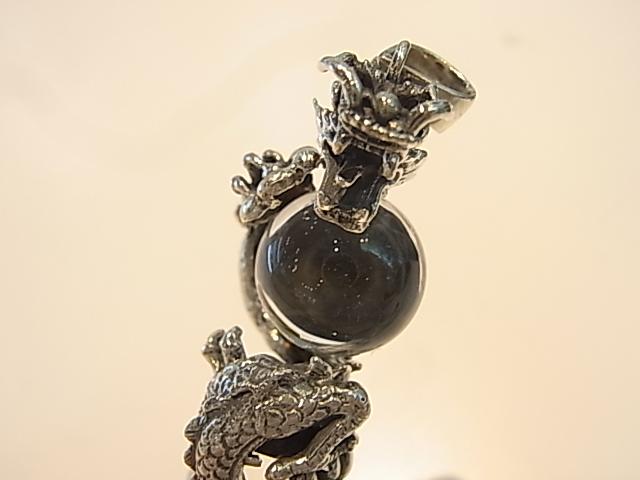 PK00257F レムリア水晶(ドラゴン)  シルバーペンダントヘッド 【GEO DESIGN】