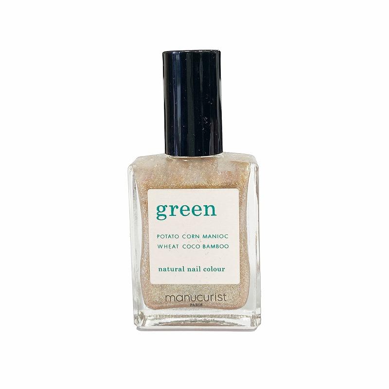グリーン ナチュラルネイルカラー ゴールド 31045