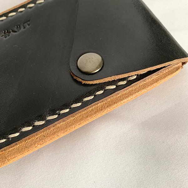 ヒラキヒミ カードケース Black