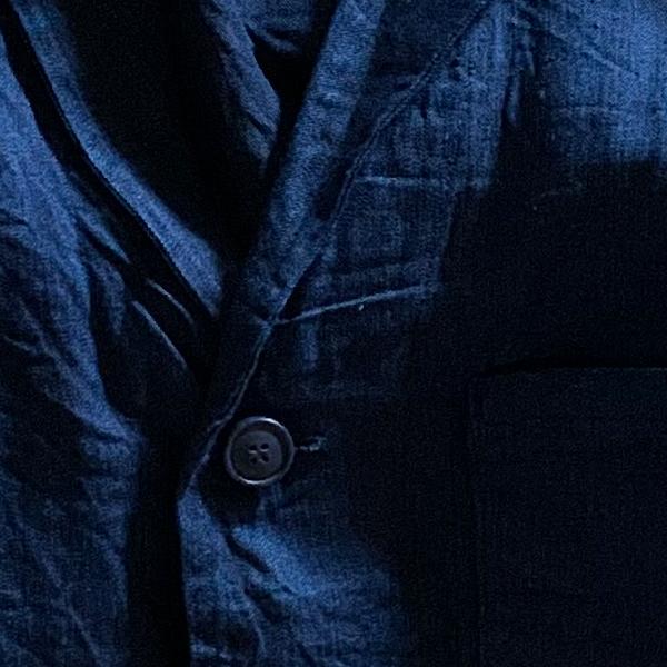 yarmo / ヤーモ New Drivers Jacket Indigo Black Linen KOJIMA Denim