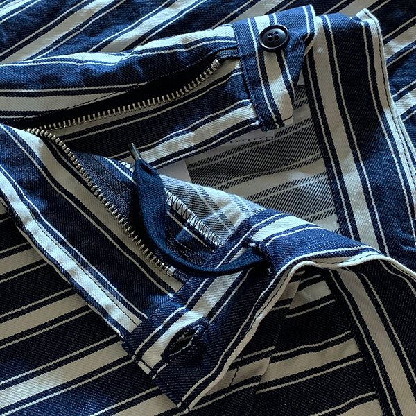 yarmo / ヤーモ Easy Pants  Milkman Stripe KOJIMA Denim