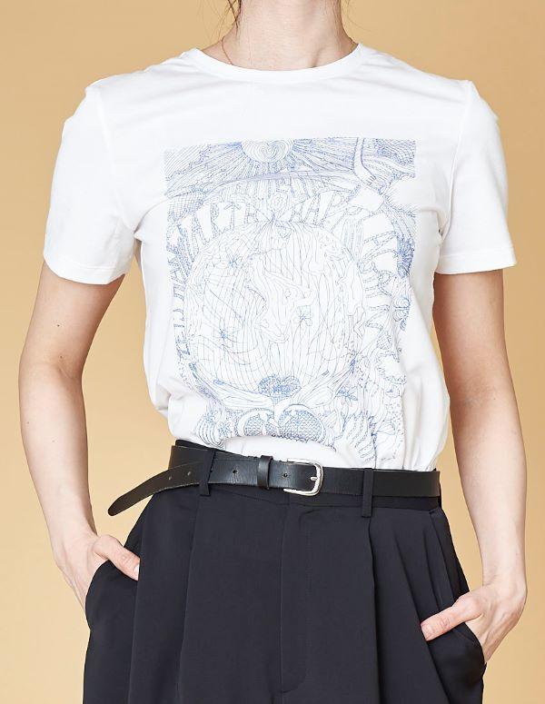 オーガニックコットン プリントTシャツ (14日以内は返品可・サイズお直し可)