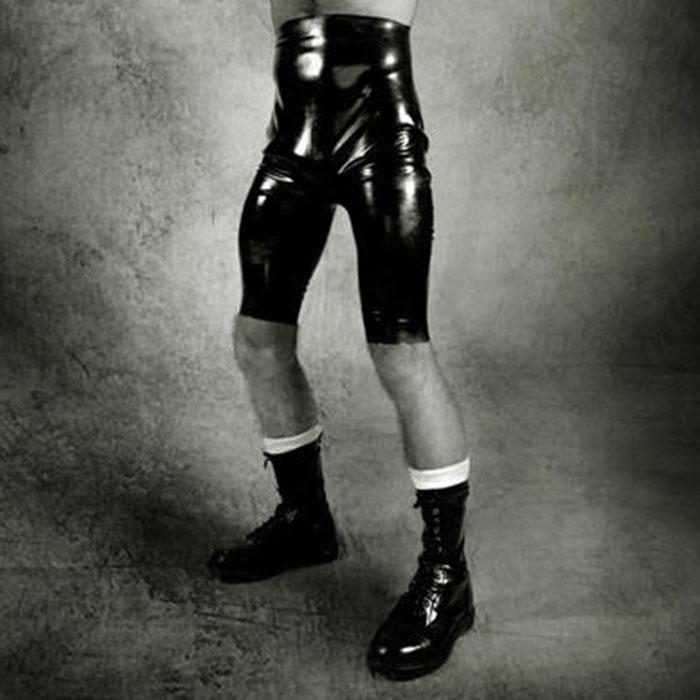 RubbberWear・メンズLサイズ【即納】ラバーバミューダパンツ/ラバーパンツ/ショートパンツ/ラバーアイテム/ラバースーツ/ラバーウェア/ラバーショップ/ラテックス/フェティッシュ/ブラック/黒/男性用/Men's L