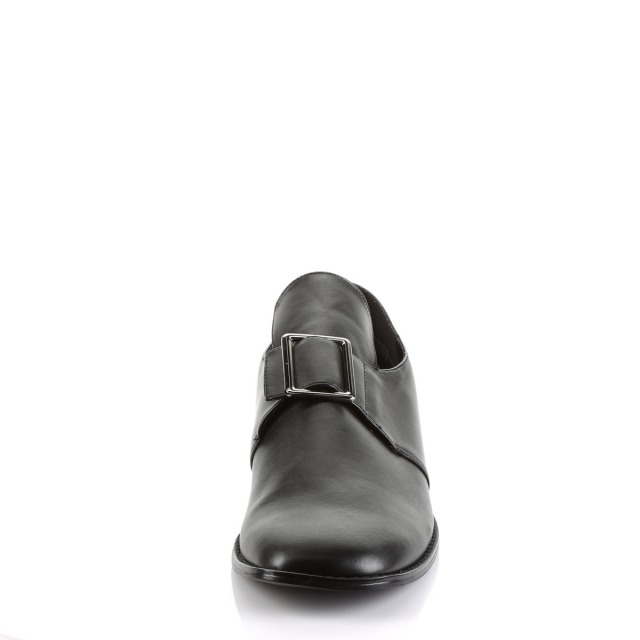 PLEASER【取り寄せ】プリーザー・コロニアルピルグリム ローファーシューズ/品番:PILGRIM-10/PIL10/2cmソール/シューズ/衣装/メンズ/ビジネス/フォーマル/シンプル/靴/男性/用/大きいサイズ/S/M/L/XL/フェイクレザーブラック/合皮黒