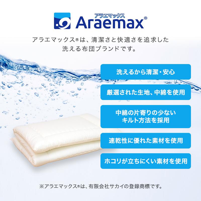 アドバンサ社 スープレル(R)ウルトラ中綿 使用 洗える敷布団 シングルサイズ 防ダニ抗菌防臭加工 エコテックス認証