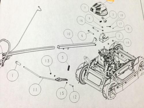 SP850 ハンドル部品【ハンドル回転板CMP白
