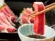 「昭福丸天然まぐろと宮城産ひらめの昆布〆・つぶ貝のお刺身三点セット!!」