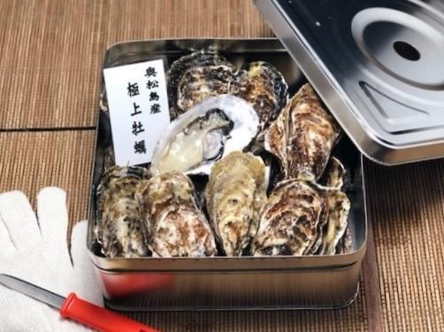 【期間限定・送料無料】宮城県産・殻付き牡蠣の缶入り30個セット