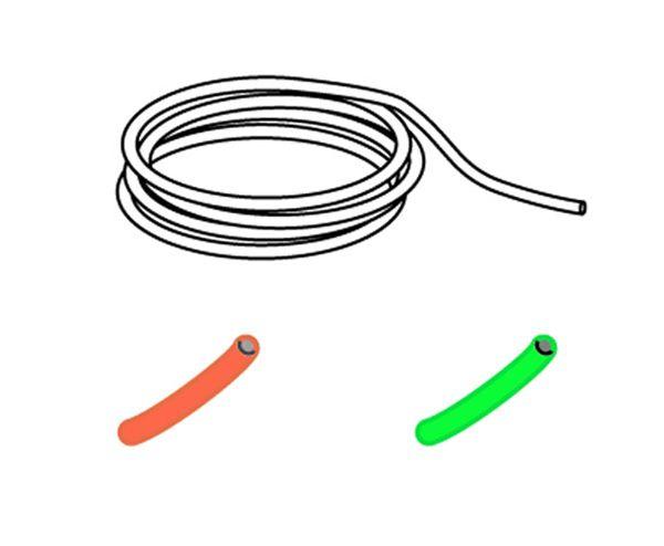 超極細コード 外径約0.15mm (赤/緑各30m) :エヌジニアリング 素材 N5038