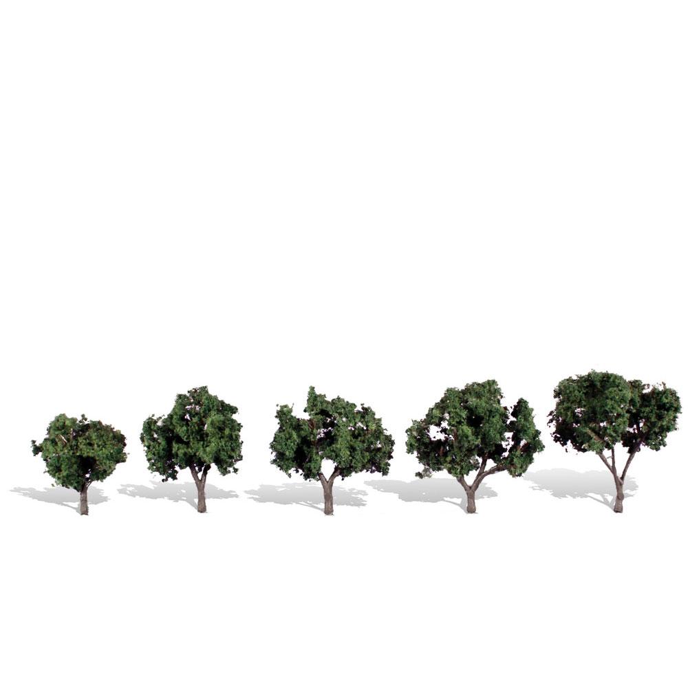 広葉樹 3.1〜5cm 5本 :ウッドランド 完成品 ノンスケール 3548