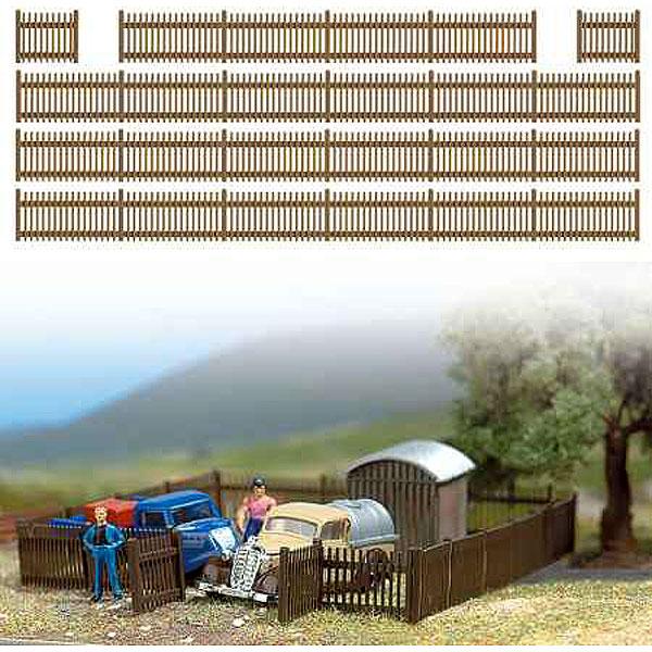 杭柵フェンス :ブッシュ 未塗装キット HO(1/87) 6007