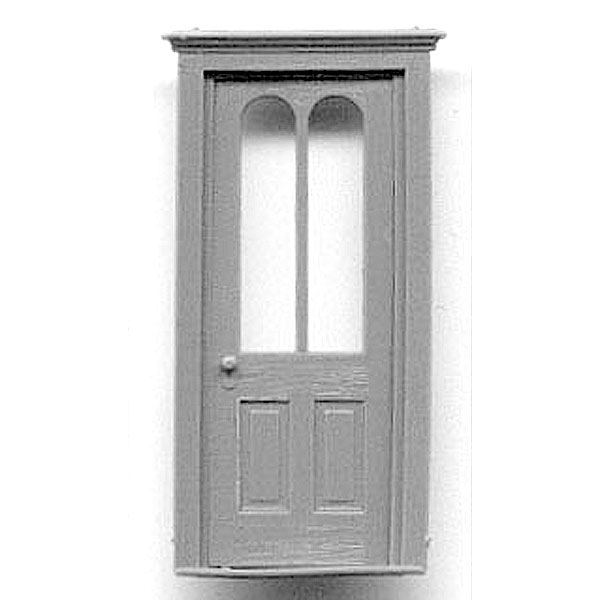 木製ドア アーチ型窓 :グラントライン 未塗装キット(部品) HO(1/87) 5263