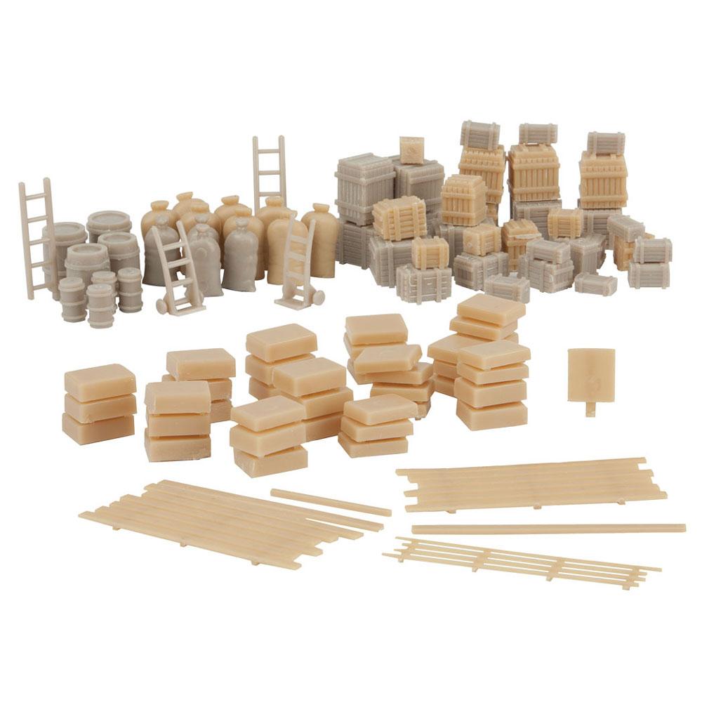 貨物セット(木箱、樽、布袋) :ウォルサーズ 未塗装キット HO(1/87) 4151