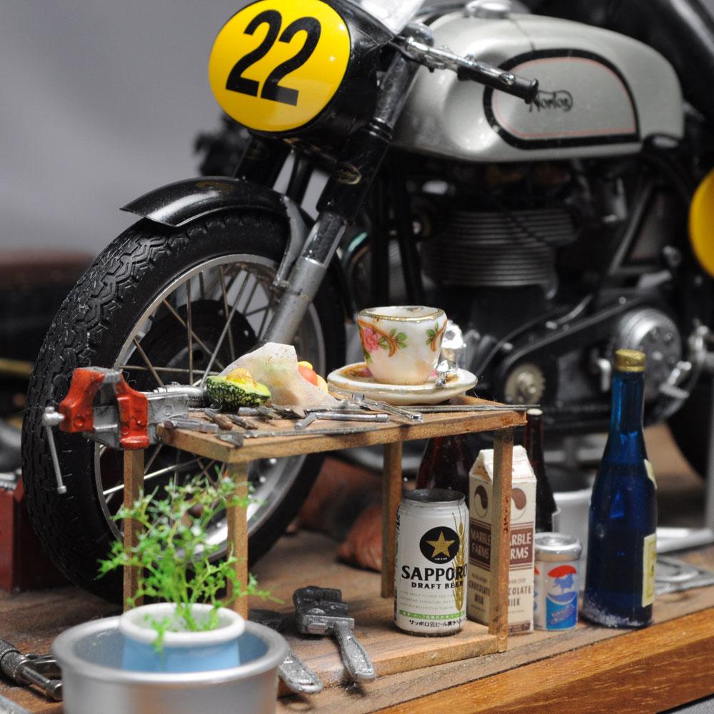 「バイクとライブのロフト」 :西村慶明 フィギュア・セクション作品 1/12scale
