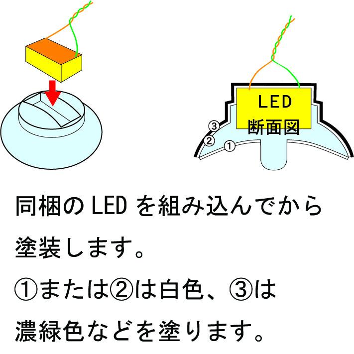 電灯笠 LED付 2セット :さかつう 素材 HO(1/87) 1503