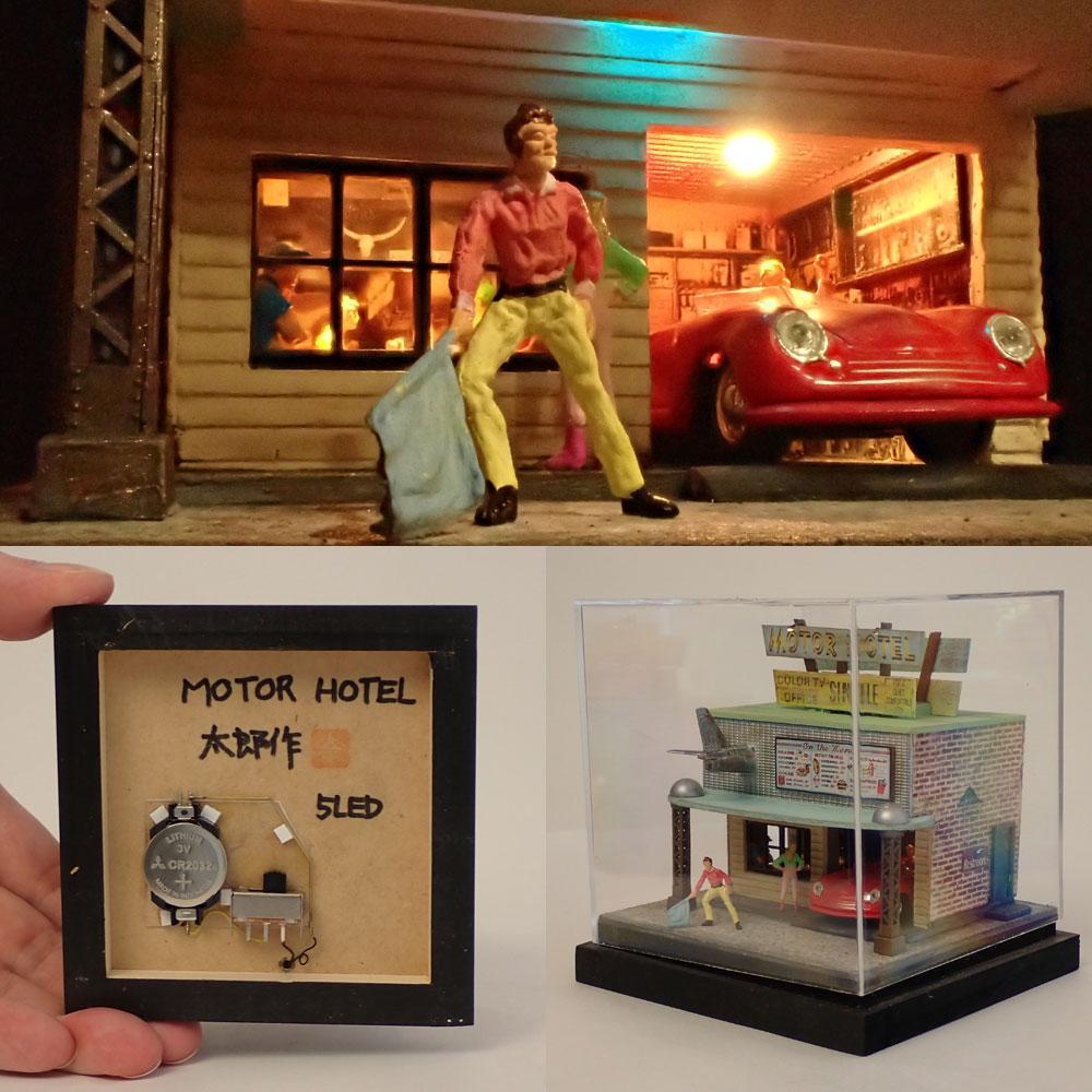 90ミリキューブミニチュア 「Motor Hotel.1」 :太郎 塗装済完成品 ノンスケール