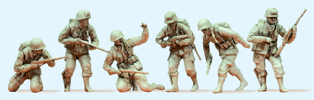 ノルマンディー上陸作戦のアメリカ軍空挺師団 6人(1944年) :プライザー 未塗装キット 1/35 64018