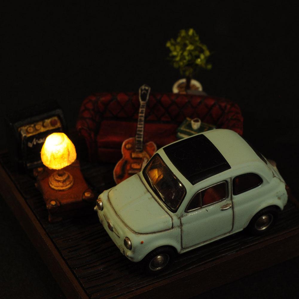 情景箱「魅惑のフィンガーピッキング」 :川田崇司 塗装済完成品 1/64